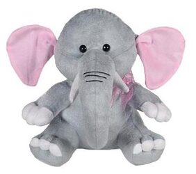 Ultra Baby Elephant Soft Toy 11 - Grey