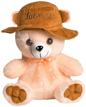 Ultra Soft Toy Cap Teddy Bear Butter 9 inch