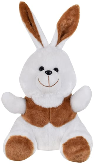 Ultra Cheerful Soft Toy Bunny 11 inch Brown