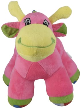 Ultra Colourful Baby Giraffe with sound 9 inch Pink