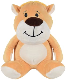 Ultra Cute Sitting Lion Soft Toy 9 inch Brown