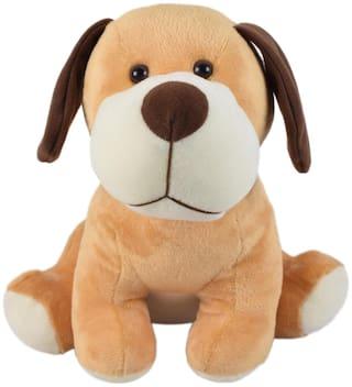 Ultra Cute Sitting Dog Soft Toy 12 inch Brown