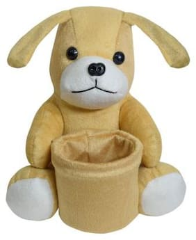 Ultra Soft Toy Dog Pen Stand Brown 8 inch