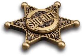 Ultra Fast Retro Sheriff Badge Fidget Hand Spinner Toy-Pack of 2  (Multicolor)