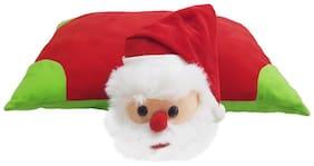 Ultra Soft Folding Pillow Santa Stuff cushion Multicolor 16x12 inch
