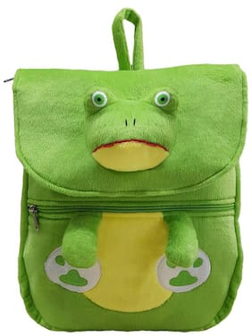 Ultra Soft Toys Frog Face School Bag Green 14 inch