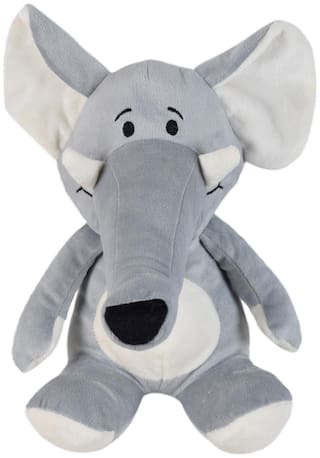 Ultra Long Trunk Elephant Soft Toy 9 inch Grey