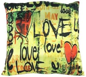 Ultra Soft Sofa Cushion Love Print Multicolor