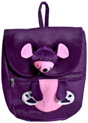 Ultra Mouse Face School Bag Purple 14 inch