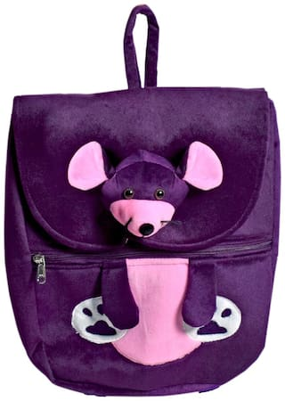 Ultra Mouse Face School Bag Purple 14 inch