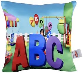 Ultra Playshool ABC Digital Printed Cushion 12x12 inch Multicolour