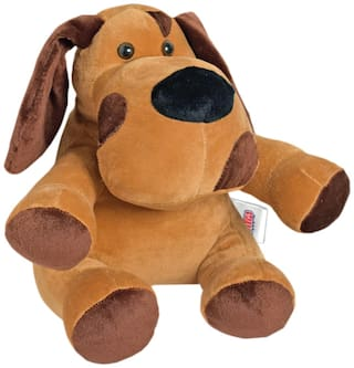 Ultra Puppy Soft Toy Brown 8 inch