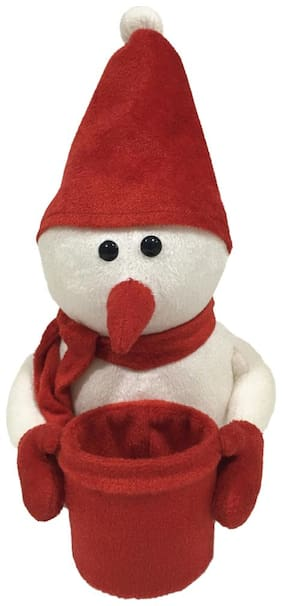 Ultra Soft Toys Snowman Pen Stand White 8 inch