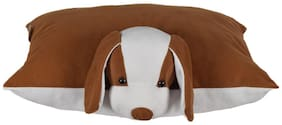 Ultra Soft Folding Pillow Dog 43.18 cm (17 cm) x 33.02 cm (13 inch) - Brown