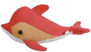 Ultra Soft Toy Plush Dolphin  16 inch Peach Pink