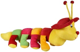 Ultra Soft Toy Plush Caterpillar with Cap 20 inch Multicolour