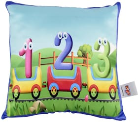 Ultra Toy Train Kids Digital Print Cushion 12x12 inch Multicolour