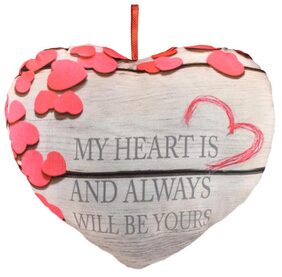 Ultra Valentine Heart Shape Printed Cushion Pillow with Message
