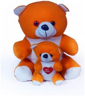Baby Love Multi & Orange Teddy Bear - 30 cm