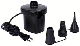 UniqueCartz Electric Vaccum Air Pump for Inflating Kid's Big Toys;Airbeds;Rafts;Mattresses (Black)