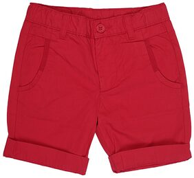 United Colors Of Benetton Red Casual Cotton Shorts/Bermuda For Boys