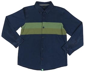6bb58982b United Colors Of Benetton Boy Cotton Solid Shirt Blue