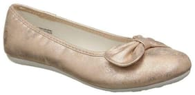 United Colors Of Benetton Gold Ballerinas For Girls