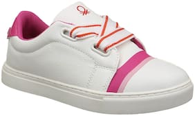 United Colors Of Benetton White Casual Shoes For Girls