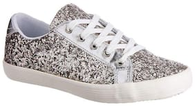 United Colors Of Benetton Silver Casual Shoes For Girls