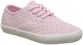 United Colors Of Benetton Pink Casual Shoes For Girls