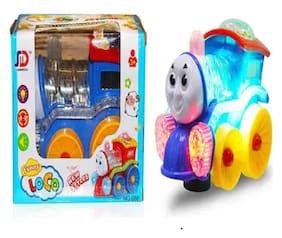 Universal BABY 3D LIGHT & MUSICAL FUNNY LOCO TRAIN (Multicolor)
