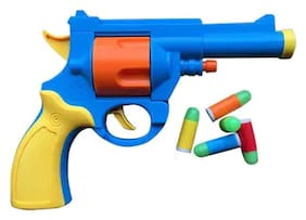 Universal Pistol Toy Gun - British Bull-dog Revolver For Kids With Free Rubber Luminous Bullets ( Multicolor )