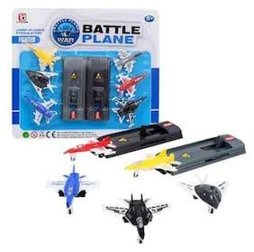 Universal War Fighter Battle Planes Set for Kids, Pack of 3 Planes (Multi Color)