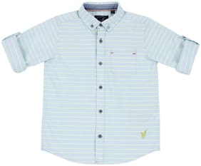 URBAN SCOTTISH Boy Cotton Striped Shirt Blue