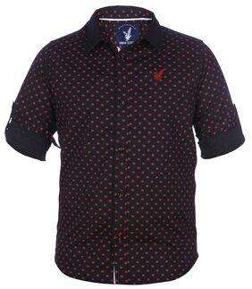 URBAN SCOTTISH Boy Cotton Printed Shirt Black