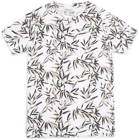 Urbano juniors Boy Cotton Printed T-shirt - White