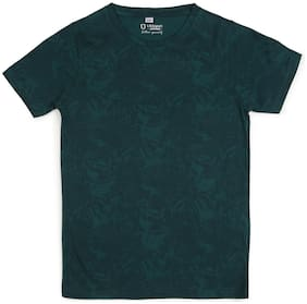 Urbano juniors Boy Cotton Printed T-shirt - Green