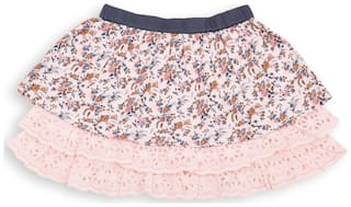 U.S. Polo Assn. Girl Cotton Solid Straight skirt - Pink
