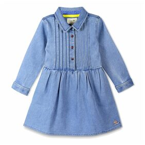 Cherry Crumble California Girl Cotton Striped Frock - Blue