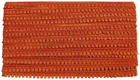 Utkarsh (Orange) Color 25 Mtr Roll Of Gota Patti Embroidery Trim Payal Lace Border For Saree,Suit,Apparel,Fashion Designing,Arts And Craftworks With 0.5 Inch Width