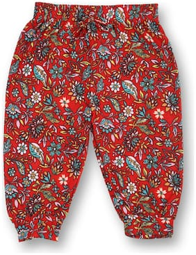 V2 Girl Cotton Trousers - Red