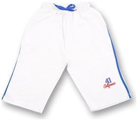 V2 Boy Solid Shorts & 3/4ths - White