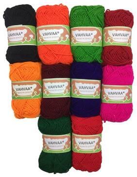 Vahvaa Hand Knitting Woolen Thread Dyed 10