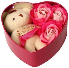 ZUKUNFT FASHION Pink Teddy Bear - 12 cm