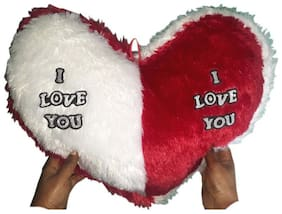 Valentine Jumbo Heart Cushion, Red (18x16-inch)