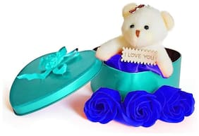 ZUKUNFT FASHION Blue Teddy Bear - 12 cm