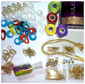 Valuebuy  Silk thread jewelery-making fully loaded box with all accessories
