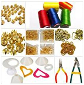 Valuebuy silk thread earrings making combo kit with jumkas