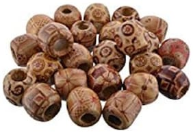 Valuebuy Wooden beads for Silk thread jewellery making