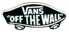"VANS OFF THE WALL Decal Sticker - Black / White - Approx. 4.25"" x 2"""